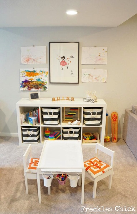 Ikea latt hack contemporary basement freckles chick Land of nod playroom ideas