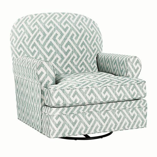 Admirable Dylan Swivel Glider Ottoman Teal The Land Of Nod Beatyapartments Chair Design Images Beatyapartmentscom