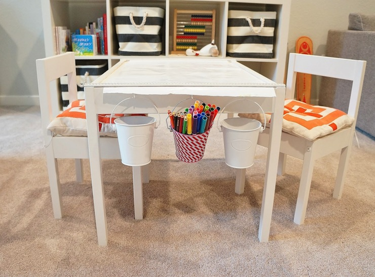 ikea latt children 39 s table and chairs contemporary basement