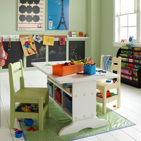 Kids Wooden Elementary Play Table   The Land Of Nod