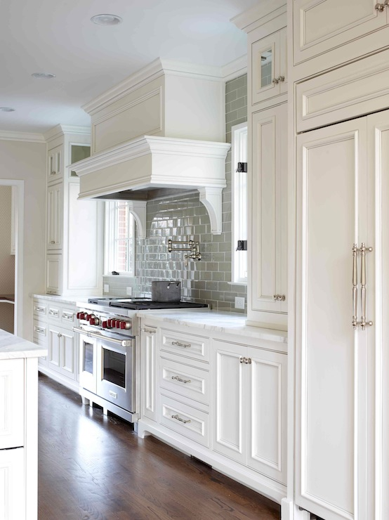 Beaded Kitchen Cabinets - Transitional - kitchen - L. Kae ...