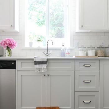 Painted Kitchen Cabinets, Traditional, kitchen, Benjamin Moore Cloud White, Our House