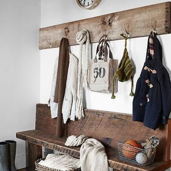 Mudroom Bench, Country, laundry room, Country Living