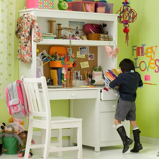 Kids White Simple Desk The Land of Nod