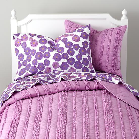 Girls Bedding Delicate Purple, Land Of Nod Bedding Girl