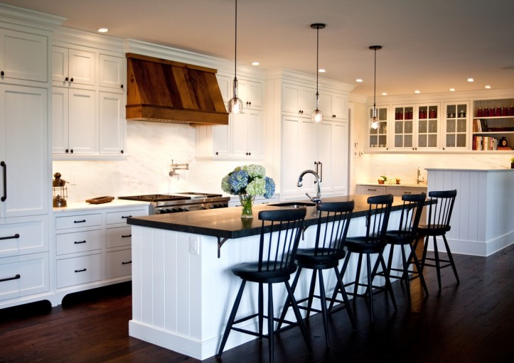 a2215cc25fa view full size. Stunning modern country kitchen design with white ...