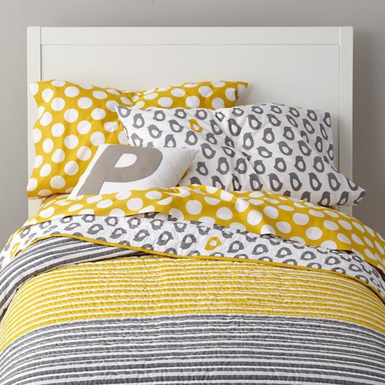 grey yellow peep bedding the land of nod