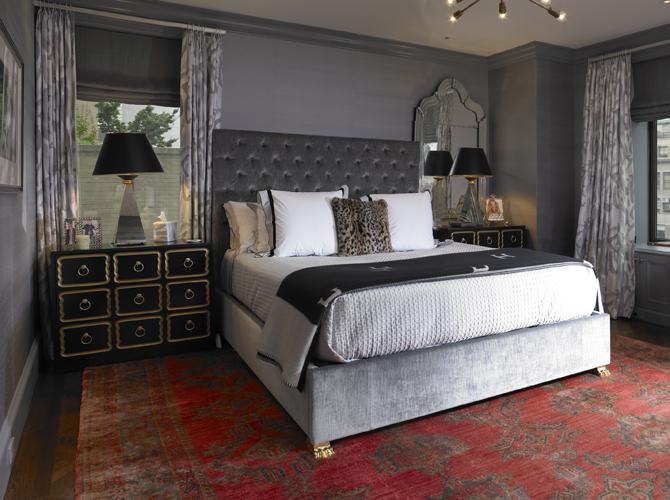 Dark Gray Bedroom Eclectic Bedroom Elizabeth Bauer