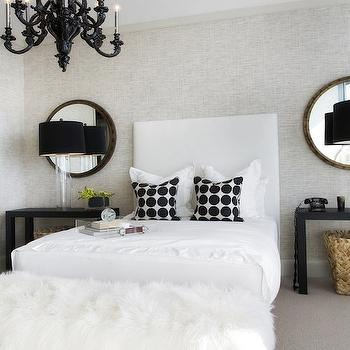 Black and White Bedroom, Contemporary, bedroom, Lonny Magazine