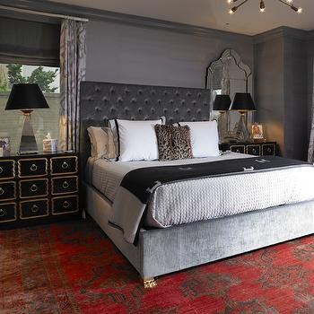 Dark Gray Bedroom. Dark Gray Headboard Design Ideas