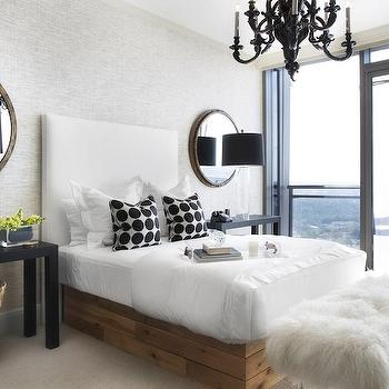 Black Parsons Table, Contemporary, bedroom, Lonny Magazine