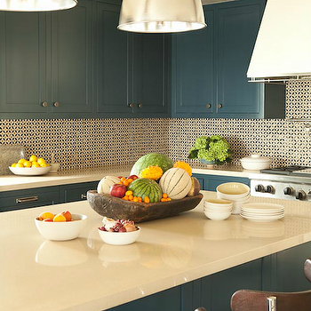 Peacock Blue Cabinets, Contemporary, kitchen, Taylor Borsari