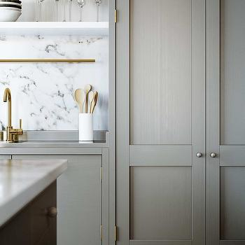 Gray Washed Cabinets, Contemporary, kitchen, ESNY