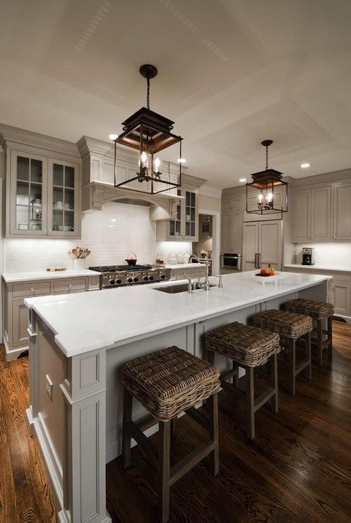 Kitchen Cabinets Painted Gray Cottage Kitchen Valspar Montpelier Ashlar