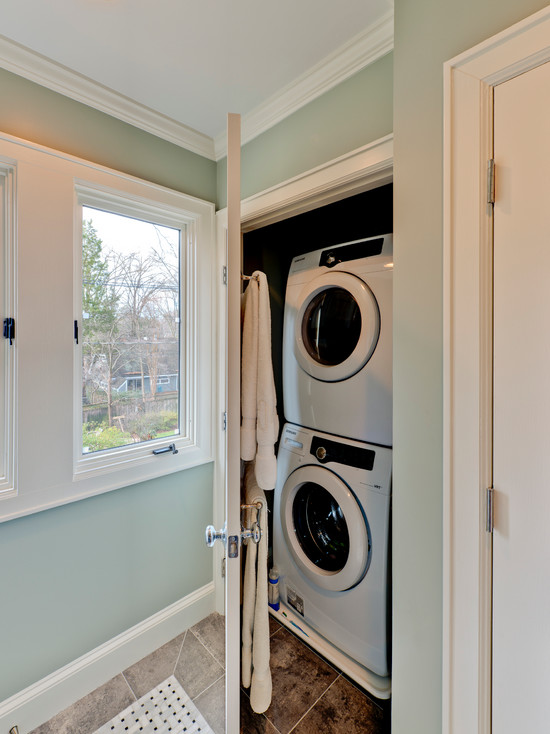 Hidden Washer And Dryer Contemporary Laundry Room Andrew Roby General Contractors