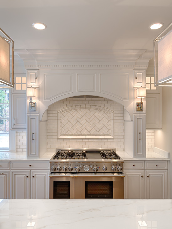 Arched Kitchen Hood Transitional Kitchen Andrew Roby