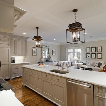 Cabinets Painted Gray Cottage Kitchen Valspar