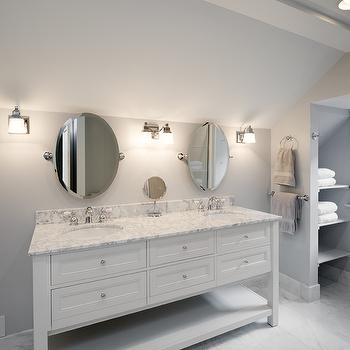 White double Washstand with White Marble Top, Transitional, bathroom, Andrew Roby General Contractors