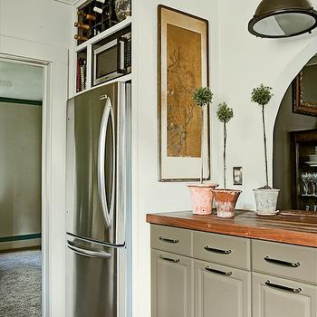 Walnut Butcher Block Countertops, Cottage, kitchen, Farrow & Ball Lime White, Urban Grace Interiors