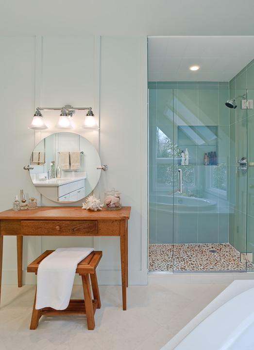 Aqua Blue Tiled Bathroom Design Ideas