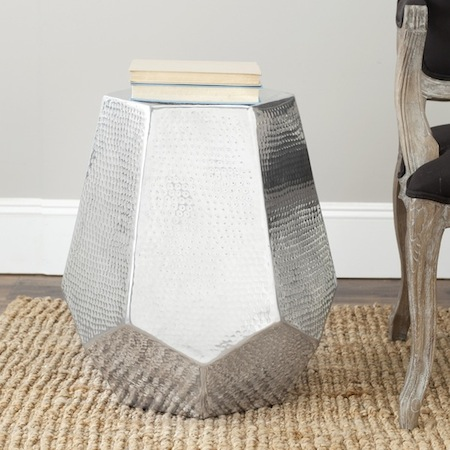 Good Overstock Safavieh Tantlum Silver Stool View Full Size