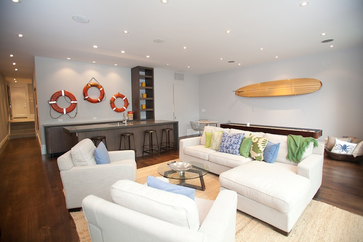 Beach Themed Family Room Basement Marsh And Clark