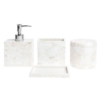 zara home mother of pearl bathroom accessories