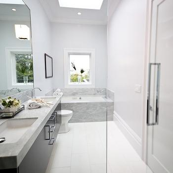 Floating Double Vanity, Contemporary, bathroom, Marsh and Clark
