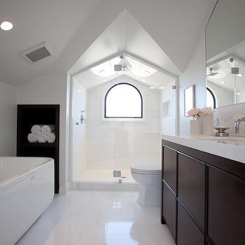 Attic Bathroom, Contemporary, bathroom, Marsh and Clark