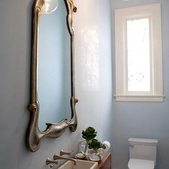 Tiny Powder Room, Eclectic, bathroom, Marsh and Clark