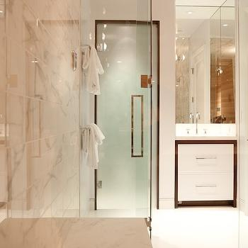 Frosted glass shower contemporary bathroom farrell - Bathroom vanity with frosted glass doors ...