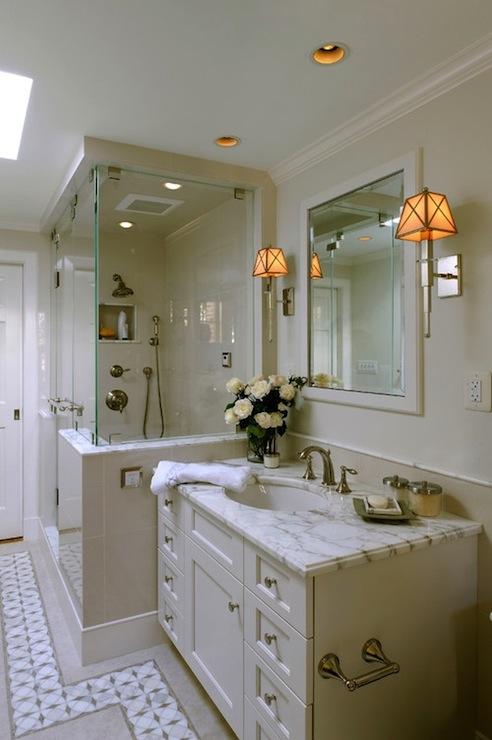 Cream Bathroom Vanity Traditional Bathroom Thorsen Construction