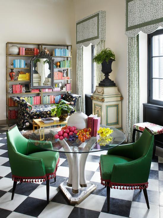 Astonishing Checkered Floor Eclectic Den Library Office Summer Ibusinesslaw Wood Chair Design Ideas Ibusinesslaworg