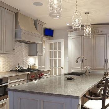 Gray Washed Kitchen Cabinets Design Ideas - Whitewash kitchen cabinets
