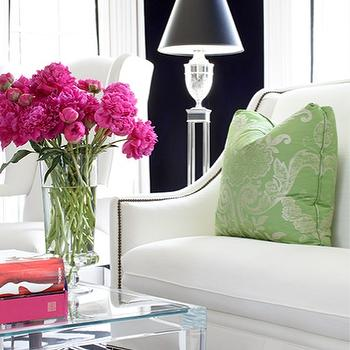 Greek Key Sofa, Contemporary, living room, Kellie Burke Interiors