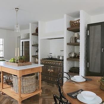 Farmhouse Kitchen Island, Eclectic, kitchen, Summer Thornton Design