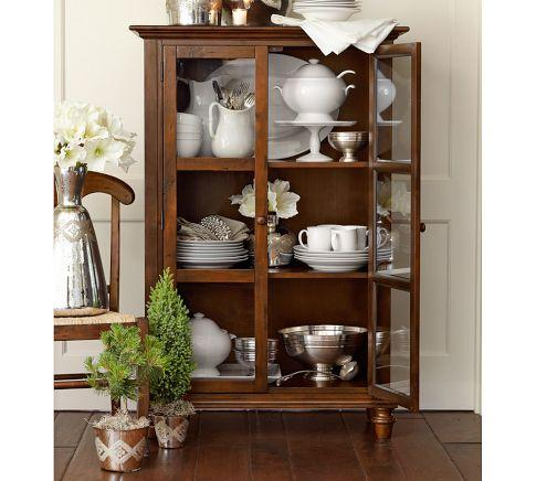 Tivoli Glass Cabinet Pottery Barn