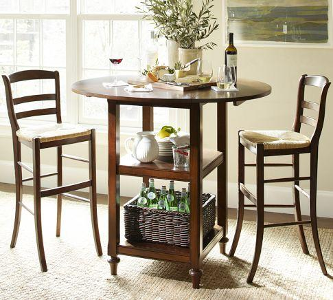 Shayne drop leaf bar height table pottery barn - Shayne kitchen table ...