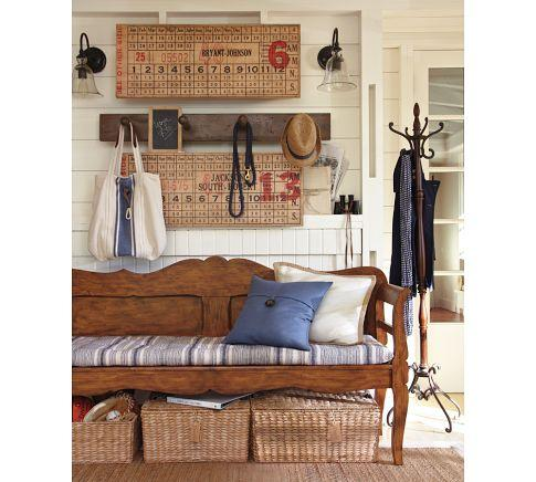 Darby entryway bench pottery barn for Pottery barn foyer ideas