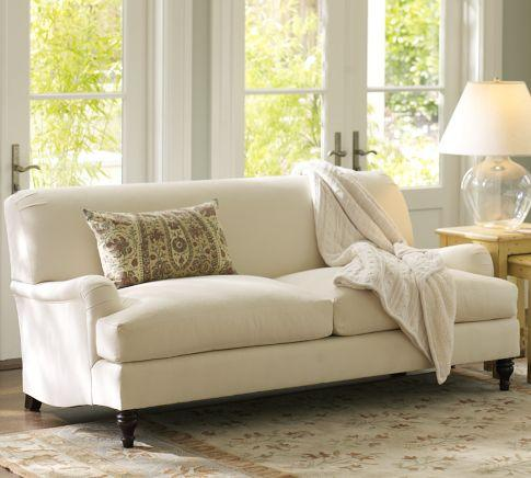 carlisle upholstered apartment sofa pottery barn. Black Bedroom Furniture Sets. Home Design Ideas
