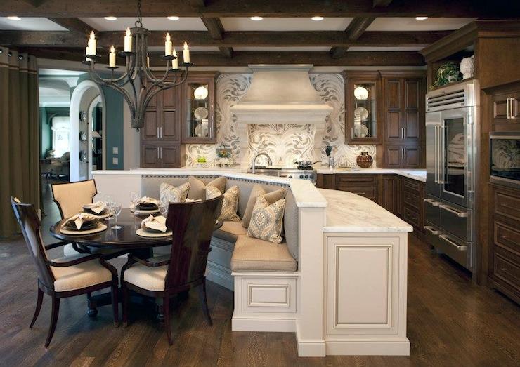 Kitchen Island Banquette Transitional Kitchen Insidesign
