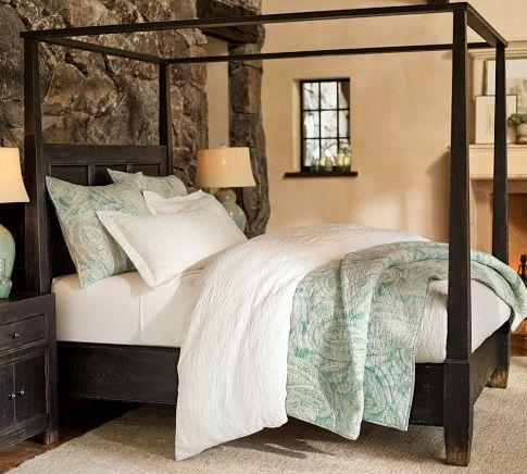 Dawson Canopy Bed - Pottery Barn : farmhouse canopy bed - memphite.com