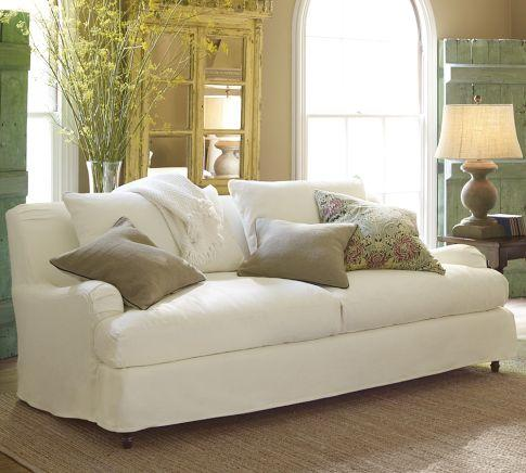 Carlisle Slipcovered Grand Sofa   Pottery Barn