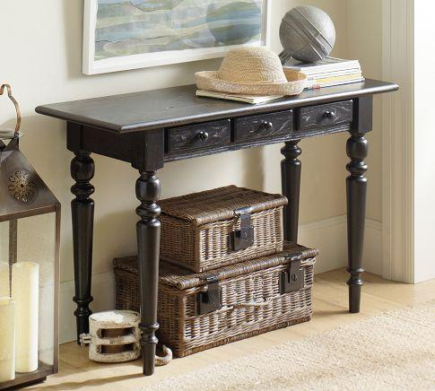 tivoli small console table pottery barn. Black Bedroom Furniture Sets. Home Design Ideas