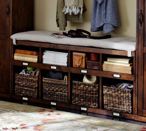 Olivia Bench Tuscan Chestnut Stain Pottery Barn