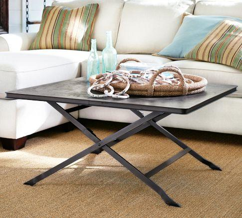 Carter Metal Coffee Table Pottery Barn - Pottery barn metal coffee table