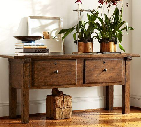 Sawyer Console Table Pottery Barn