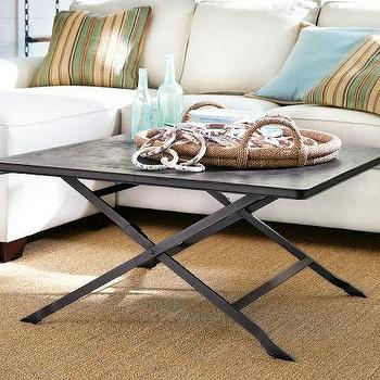 Carter Metal Coffee Table   Pottery Barn