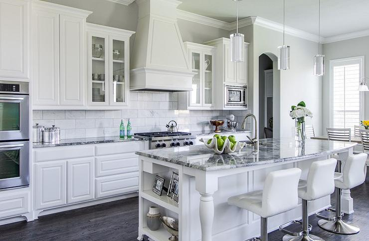 Gray Granite Countertops Contemporary Kitchen Ej