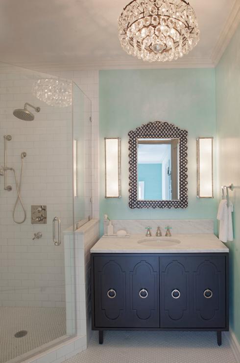 Corner Shower Eclectic Bathroom Rethink Design Studio